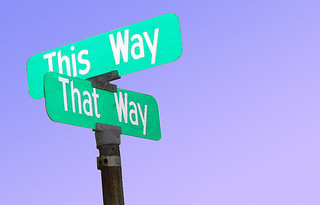 "Street Signs Reading ""This Way"" and ""That Way"""